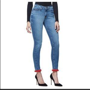 Good American High Rise Pom Pom Jeans